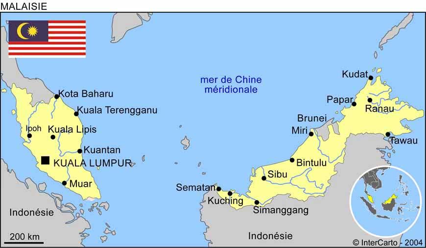 Carte du monde kuala lumpur