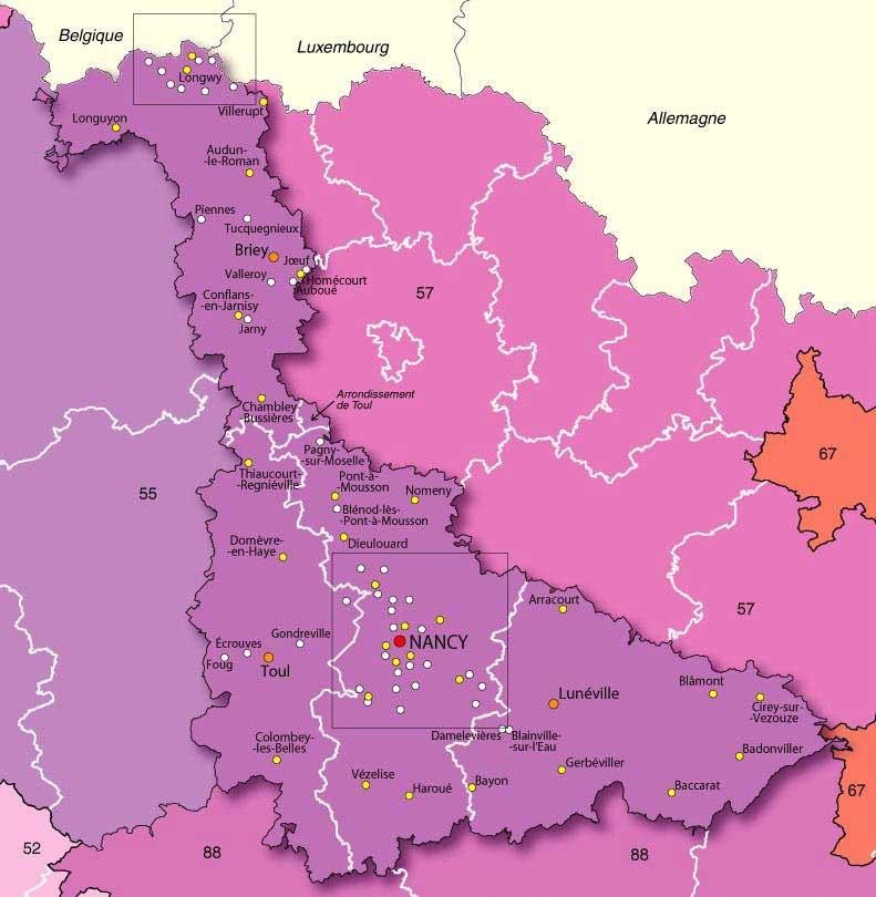 Meurthe-et-Moselle – Département 54