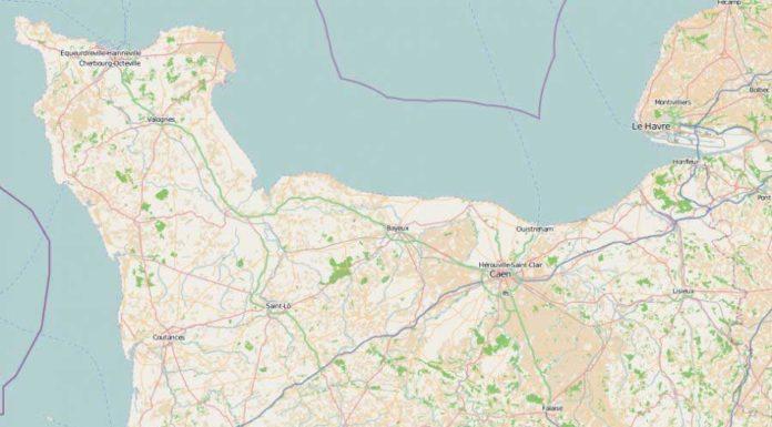 basse-normandie - Carte géographiique