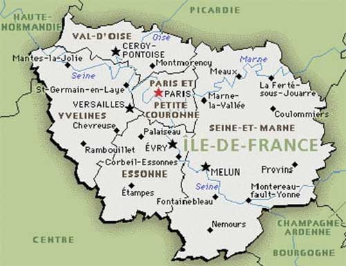 Carte Paris -Ile de France