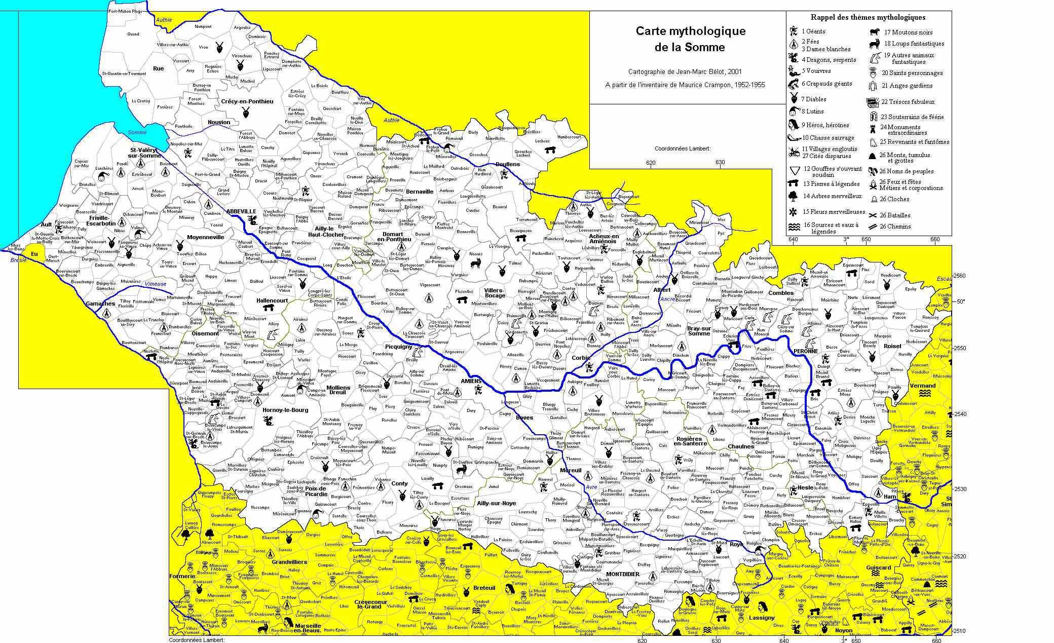 carte de la somme détaillée 80 Somme   Plan   Voyages   Cartes