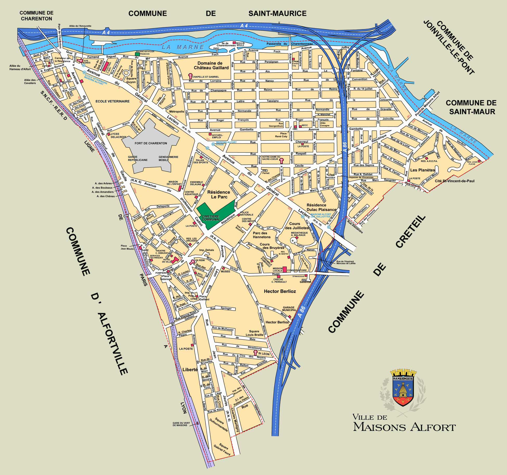 Plan de Maisons-Alfort
