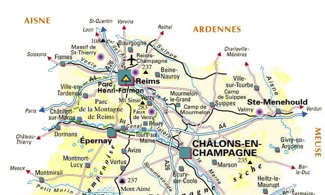 Carte de la Marne - Plan