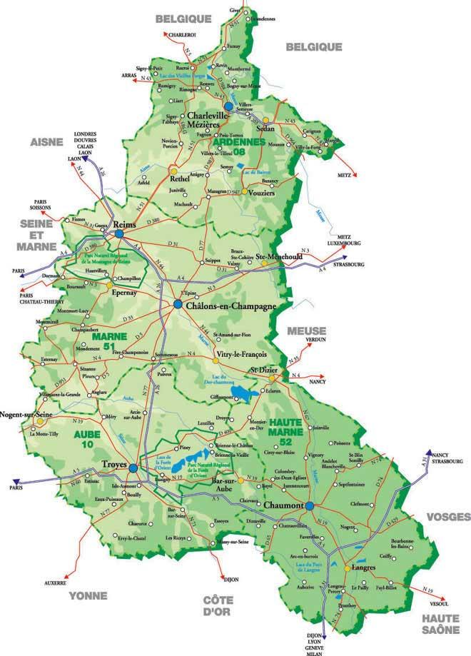 region ardennes carte