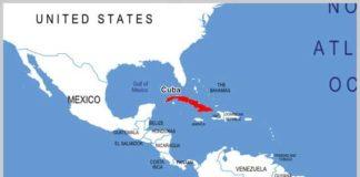 Cuba - Carte du Monde
