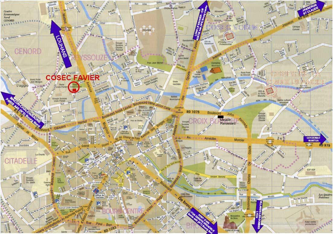 carte bourg en bresse Plan de Bourg en Bresse   Voyages   Cartes