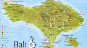 Carte routière de Bali