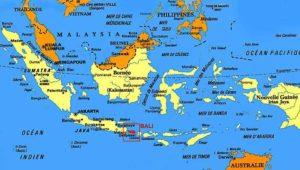 Bali sur la carte Indonésie