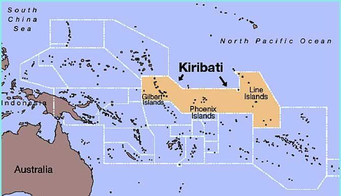 Carte île Kiribati