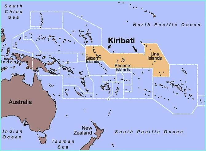 carte des iles kiribati - Image