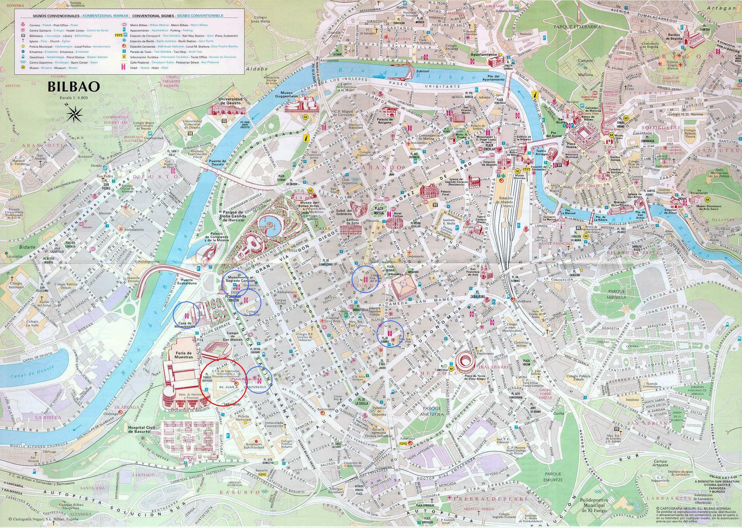 Carte de Bilbao