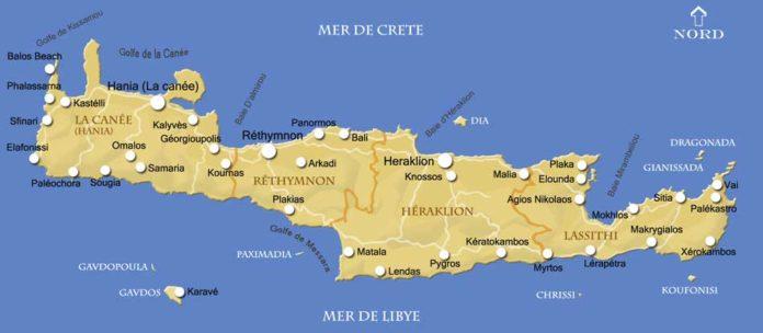 Carte de la Crète