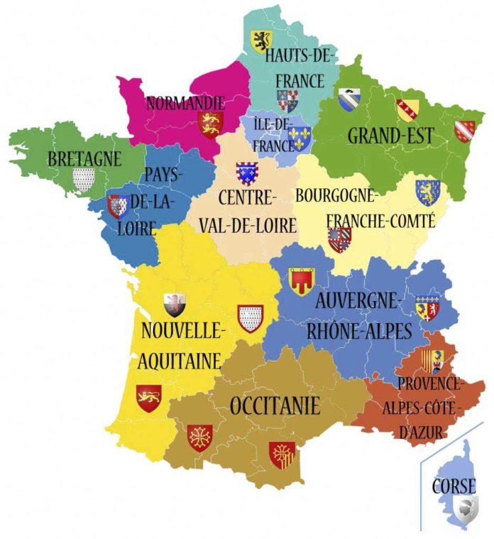 Carte de France - Nouvelles régions