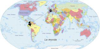 Colombie - Carte du monde