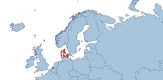 Danemark - Carte Europe