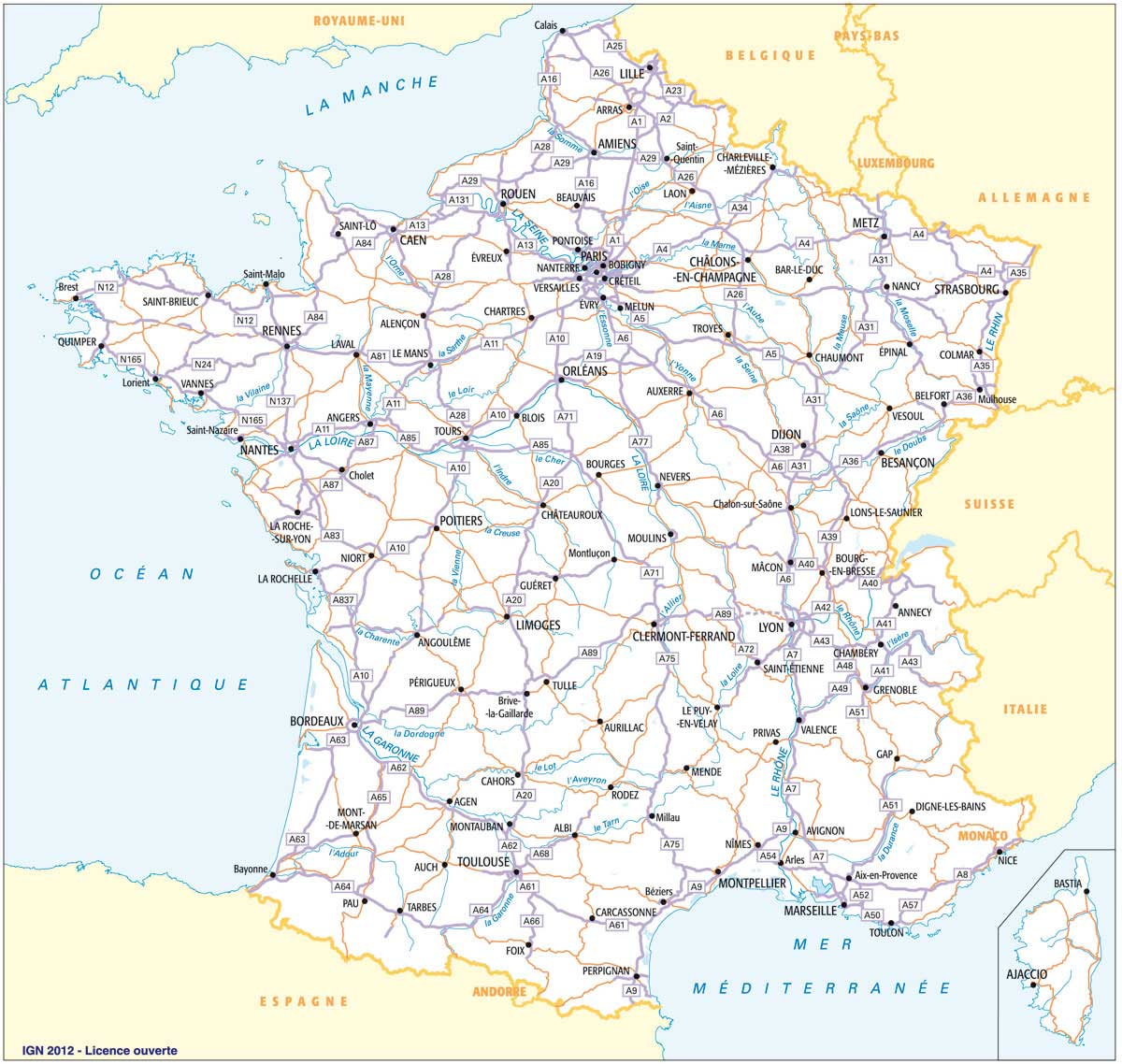 carte routiere france - IGN